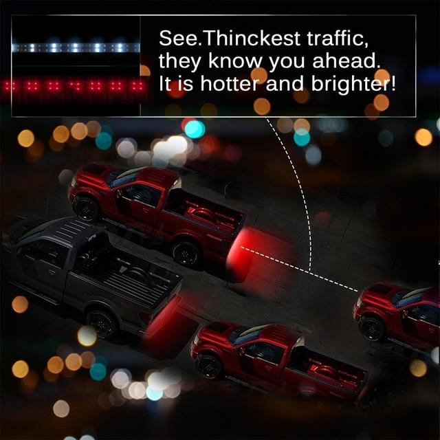 """50""""/60"""" Red/White Flexible 5-Function Tailgate LED Strip Light Bar for Reverse Running Brake Turn Signal for Pickup Truck SUV"""