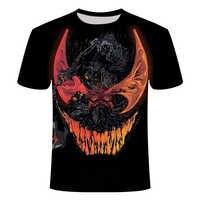 2019 neue Männer/frauen T Shirts Venom Kompression Shirt 3D Gedruckt Sommer Kurzarm avenger sweatshirt gym hiphop große größe 6XL
