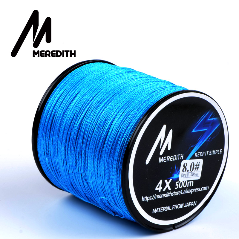 Great discount meredith 500m 10lb 80lb braided fishing for Cheap braided fishing line
