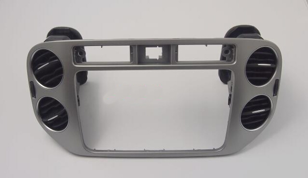 For 2010-15 Volkswagen Tiguan models <font><b>CD</b></font> navigation face frame with central <font><b>air</b></font> <font><b>conditioning</b></font> vent decorative frame