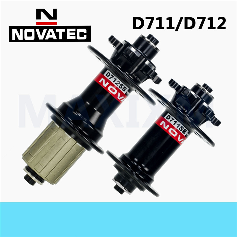 Novatec D711SB/D712SB MTB bike FRONT hubs mountain bike disc hubs with quick release 24/28/32holes front or rear novatec d741sb d742sb mtb mountain bike hub bearing disc brake bicycle hubs 24 28 32 holes 32h black red color