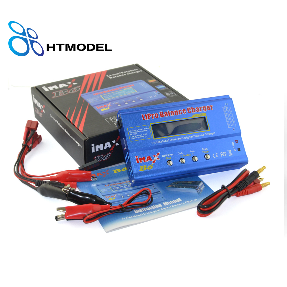 iMAX B6 2-6s RC LiPo NiMH NiCd LiFe Pb Battery Balance Charger Discharge for Helicopters UAV batteries 80W/50W  with AC  T-Plug skyrc d100 2 100w ac dc dual balance charger 10a charge 5a discharge nimh lipo battery charger twin channel charge