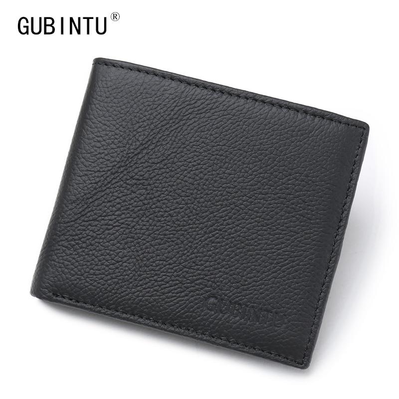 Rfid blocking wallet new men genuine genuine leather for Yamaha leather wallet