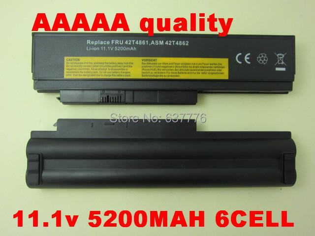 Envío rápido caliente NUEVA 6 CELL batería Del Ordenador Portátil para Lenovo ThinkPad X200 X200S X201 X201S X201i 42T4650 IBM negro
