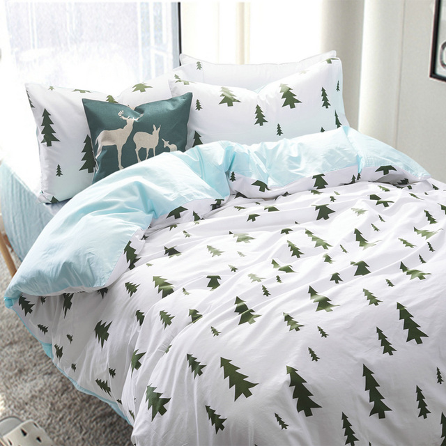 100 Cotton Forest Bedding Set Home Bed Sheets Forest Duvet Cover Comforter  Sets Twin Queen King