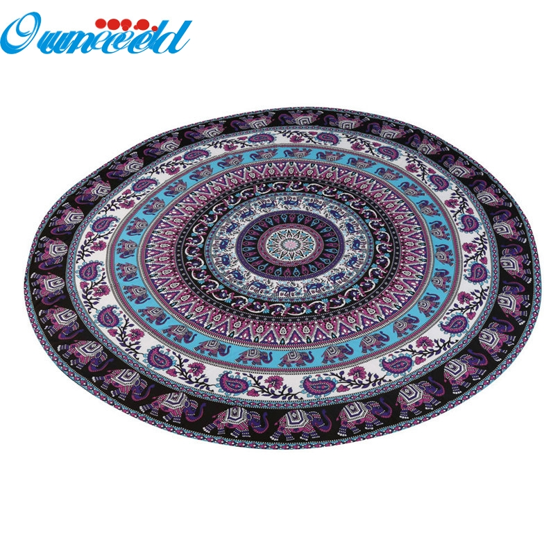 Home Wider Hot Selling High Quality Round Beach Pool Home Shower Towel Blanket Table Cloth Yoga Mat Drop Shipping