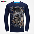 Mens Cotton Tshirts Slim Fit Long Sleeve T Shirt Men Brand Clothing 2016 Fashion 3D Print Tee Shirt Hip Hop T-shirt Top Quality