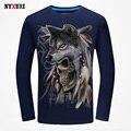 Mens Cotton Tshirts Slim Fit Long Sleeve T Shirt Men Brand Clothing 2016 Fashion 3D Print Tee Shirt Hip Hop T-shirt Top Quality