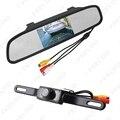 """4.3 """"Digital TFT LCD Monitor de Retrovisor Com Espelho Uma Matrícula Invertendo Câmera de Visão Traseira Sistema # FD-3733"""