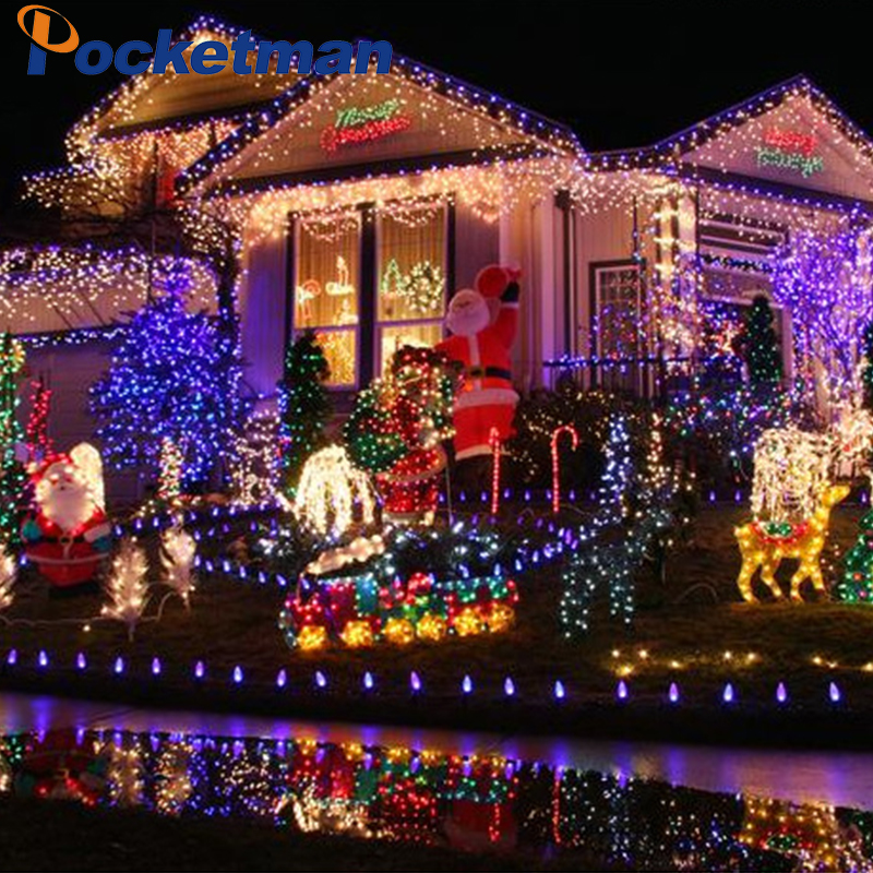 10M String Light Christmas/Wedding/Party Decoration Lights Lighting AC 110V 220V Waterproof 9 Colors