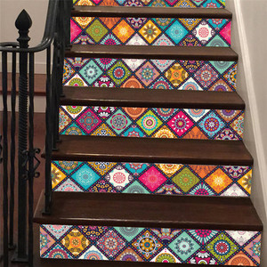 6PCS Staircase Steps Stickers Riser Floor Sticker for Bedroom Living Room Decor DIY tairs Decal Drop Shipping 713#&(China)