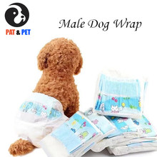 12pcs Disposable Male Dog Wrap Super Absorbent Soft Pet Pee Diapers Including 4 Sizes - Extra Small, Small, Medium, Large(China)