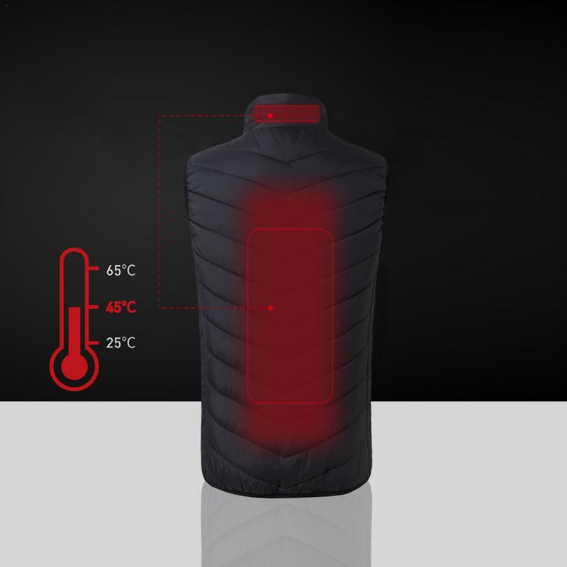 Outdoor Sports Fishing Skiing Graphene Electric Heated Vest USB Security Intelligent Constant Temperature Ski Heating Vest large size autumn and winter men s stand collar heating cotton vest graphene electric vest adjustable usb charging heated cloth