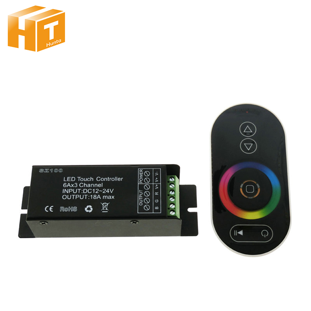 Touch LED RGB Controller RF Wireless Remote Control RGB / CT / DIM DC12-24V led controller dimmer for led strip light tape wireless rgb led controller w touch round remote control white