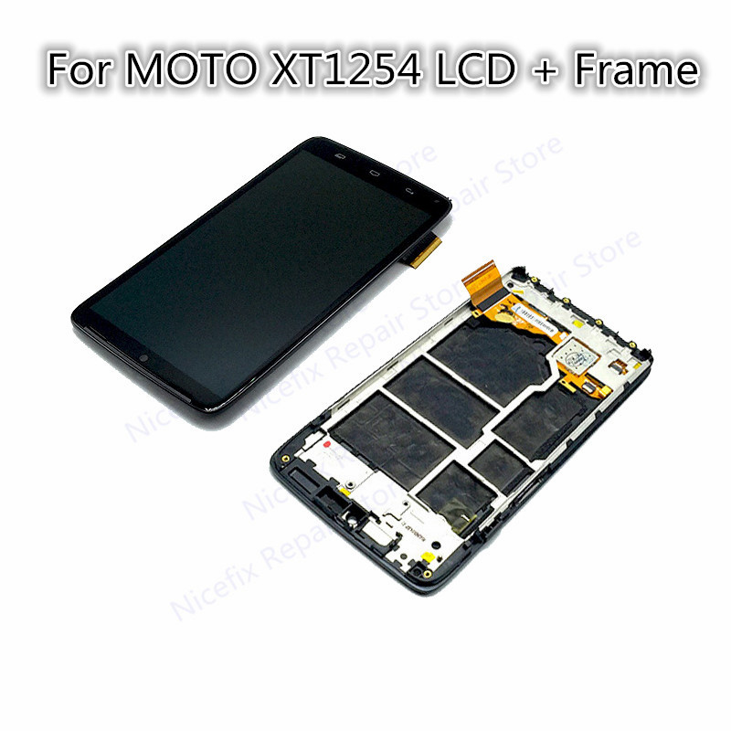 5.2'' Black For Motorola Moto Droid Turbo XT1254 XT1225 LCD Display Touch Screen Digitizer Bezel Frame Assembly Replacement part-in Mobile Phone LCD Screens from Cellphones & Telecommunications    1