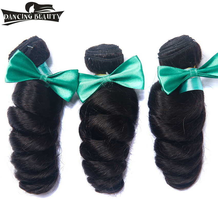 DANCING BEAUTY Loose Wave Brazilian Hair Weave 3 Bundles Deal 100% Human Hair 100g/Piece Non Remy Hair Weaving No Tangle
