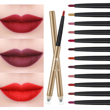 Teayason Lip Liner+Sponge Double Head Automatic Liner Pencil Sexy Red Vampire Waterproof Lasting Matte Batom AM070