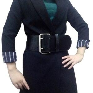 Модный классический большой металлический двойной пряжкой, Дамский широкий ремень, женский дизайн, высококачественные женские повседневн...