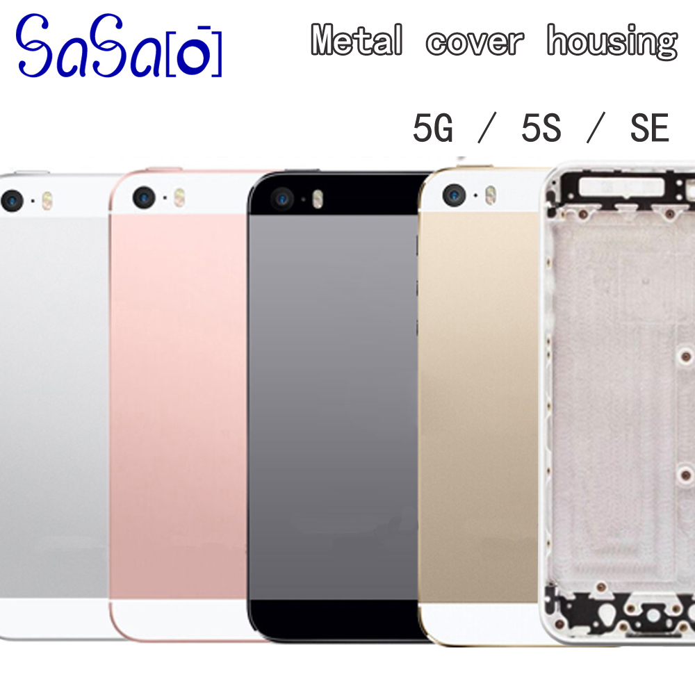 Replacement For iphone 5 5G 5S SE Back Middle Frame Chassis Full Housing Assembly Battery Cover