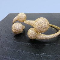 GODKI Extreme Luxury Bubble Ball Cluster Super Shiny Cubic Zirconia Women Wedding Engagement Bracelet Bangle Ring Jewelry Sets