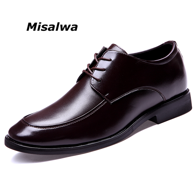 Misalwa 2019 Men Suit Shoes Sucessful Extravagant Men Business Dress Shoes Elevator Shoes Invisible Height Increased