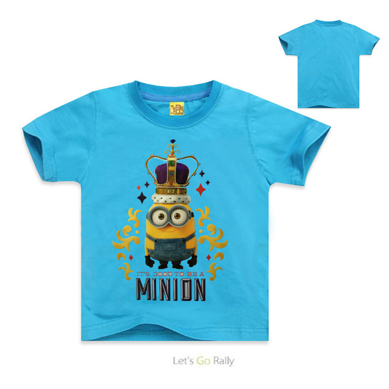 Hot Movie Boys Despicable Me 2 T Shirt Kids Cartoon T shirts Tees Girls Minions Cotton Short Sleeve t-shirt Tops Drop Ship