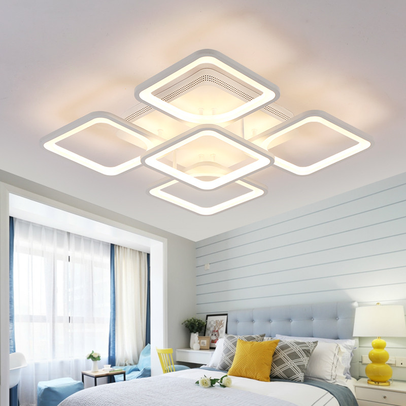 Luxury Modern Interior House Led Boys Ceiling Light Lamp Square Rectangle For Kitchen Bedroom Dining Girls Room Home Lighting contemporary modern japanese american style triangle kitchen light house lighting led ceiling lamp for teens bedroom dining room