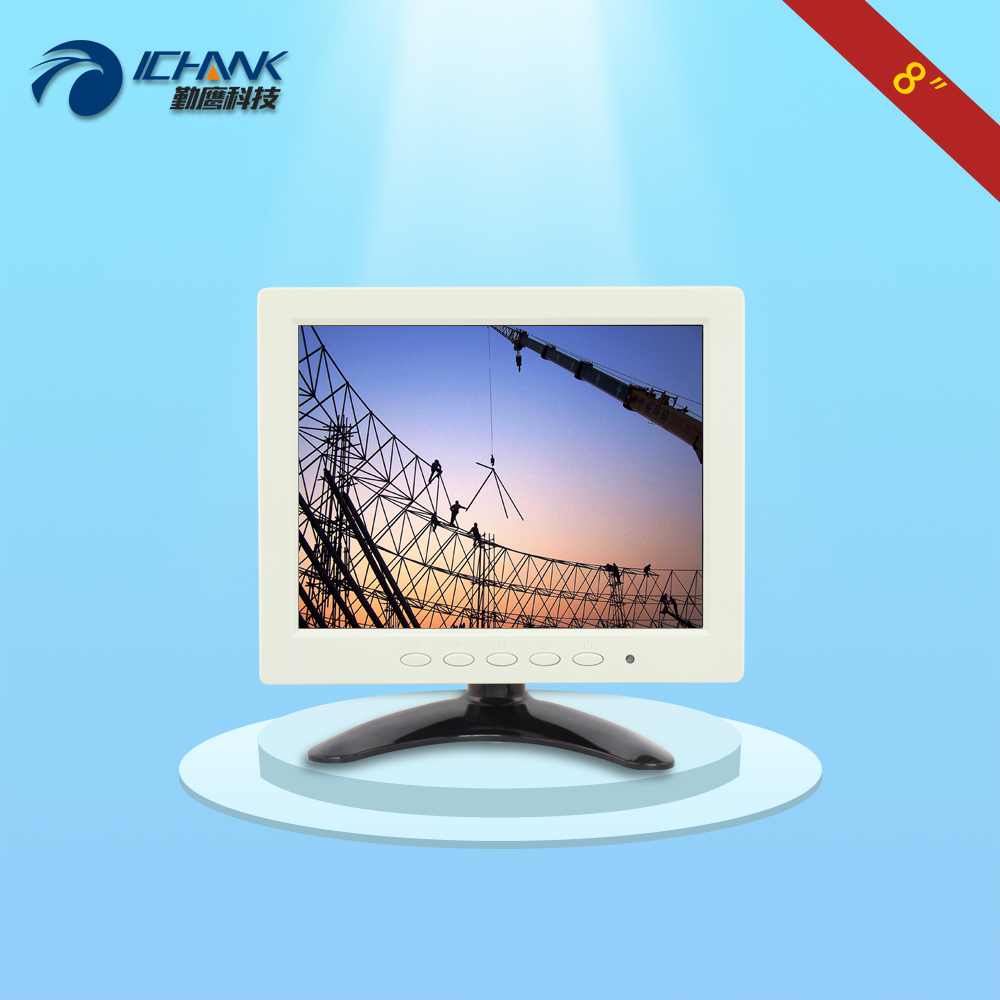 B080JN-ABV-2(W)/8 inch white mini monitor/8 inch white display/8 inch embedded monitor/Microscope Instrument supporting monitor;