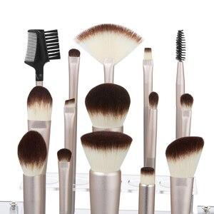 Image 2 - Jessup 15 шт., цвета шампанского, Золотые кисти для макияжа, косметические инструменты, профессиональный макияж, пудра, основа для макияжа, тени для век, Кисть для макияжа
