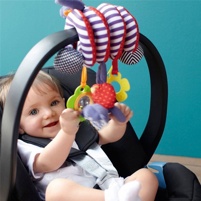 Cute Infant Baby Play Activity Spiral Bed & Stroller Rattles MobilesToys Set Hanging Toys Stroller Accessorie