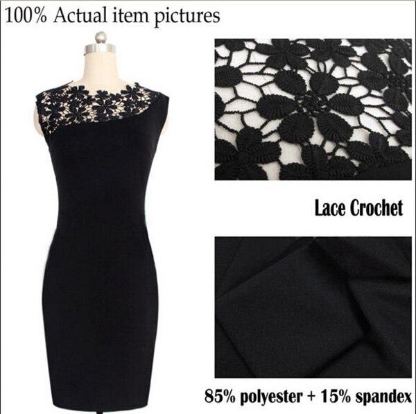 Vestidos Sexy Vestidos Veshja me Madhësi të Madhe Fustan i Zi - Veshje për femra - Foto 4