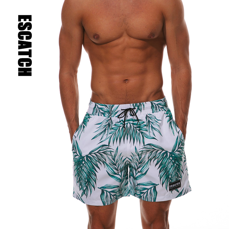 Escatch Brand Swimsuit Men's Swimming Trunks XXL Boardshort Surf Man Gym Bermuda Swimwear   Short   Quick Dry   Board     Shorts