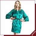 SR016 Robe De Seda Roupão de Banho Das Mulheres Robe De Cetim Curto Mulheres Peignoir Roupão Pijama Das Mulheres Pijamas Robes Womens Frete Grátis