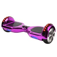 Ship from Germany stock 6.5 inch 2 wheels scooter chrome shell hoverboard with Bluetooth self balance scooter free shipment