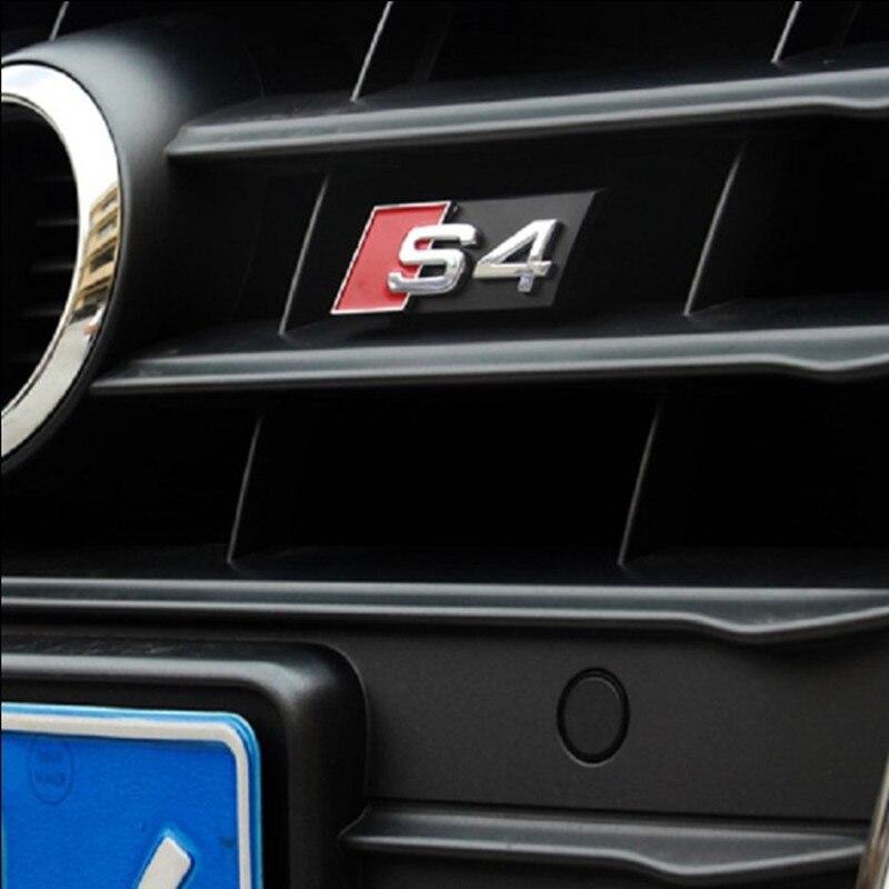 1PCS 3D Metal Car S line Sticker Cover for Audi S4 Logo A4 S4 B7 B8 Auto Car Decal Accessories Styling доска для объявлений dz 1 2 j8b [6 ] jndx 8 s b