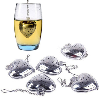 Heart Tea Infuser Strainer Stainless Steel
