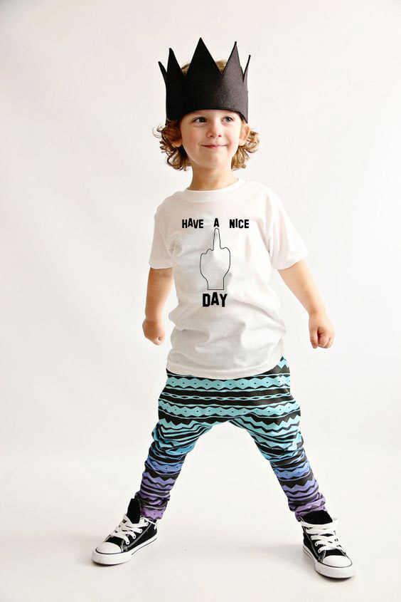 Hebben EEN Mooie Dag Baby Meisjes T-shirt Babe Kawaii Gedrukt T-Shirts Kids Wit Kleding Kind Tops Zomer Korte Mouw tops Tees