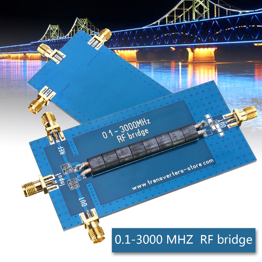 New RF SWR Bridge 0.1-3000 MHZ Return Loss Bridge Reflection Bridge Antenna Analyzer VHF VSWR Return Loss