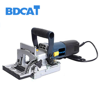 BDCAT 710W Biscuit Jointer Electric Tool Woodworking Tenoning Machine Puzzle Power Tools Machine Groover Copper Motor