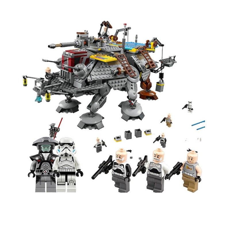 Star War force LEPIN 05032 1022Pcs Captain Rex's AT-TE 75157 Building Blocks Compatible with lego 75157 Star Wars Boys Toys Gift конструктор lepin star wnrs шагающий вездеход at te капитана рекса 1022 дет 05032