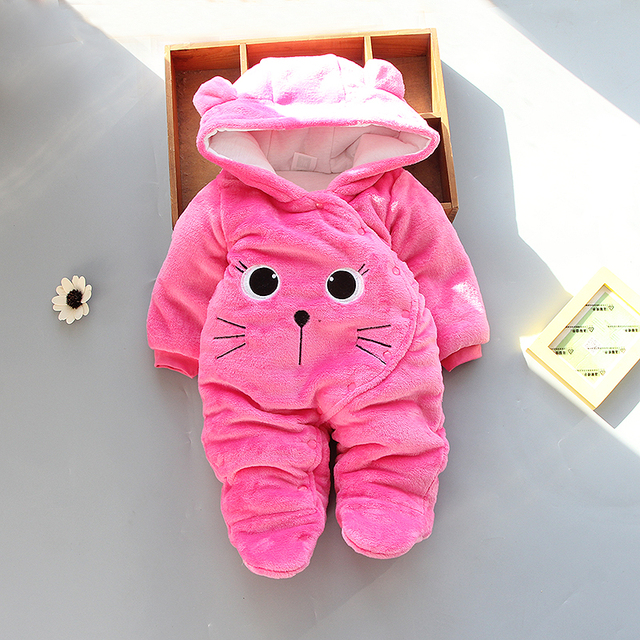 294338f1e BibiCola winter rompers newborn baby clothes cotton velvet jumpsuits ...