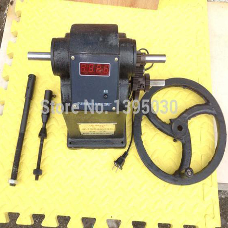 Free shipping by dhl 2pcs new manual hand coil counting winding winder machine for thick wire 2.5mm