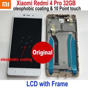 Image 1 - 원래 새로운 최고의 Xiaomi Redmi 4 16 기가 바이트/4 프로 프라임 32 기가 바이트 LCD 디스플레이 10 포인트 터치 스크린 디지타이저 어셈블리 센서 프레임