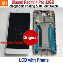 מקורי חדש הטוב ביותר Xiaomi Redmi 4 16GB / 4 פרו ראש 32GB LCD תצוגת 10 נקודת מגע מסך digitizer עצרת חיישן עם מסגרת