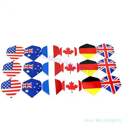 New 6pcs Throwing Nice Toy Dart Flights National Flag Flights Darts Flight fun Drop Ship