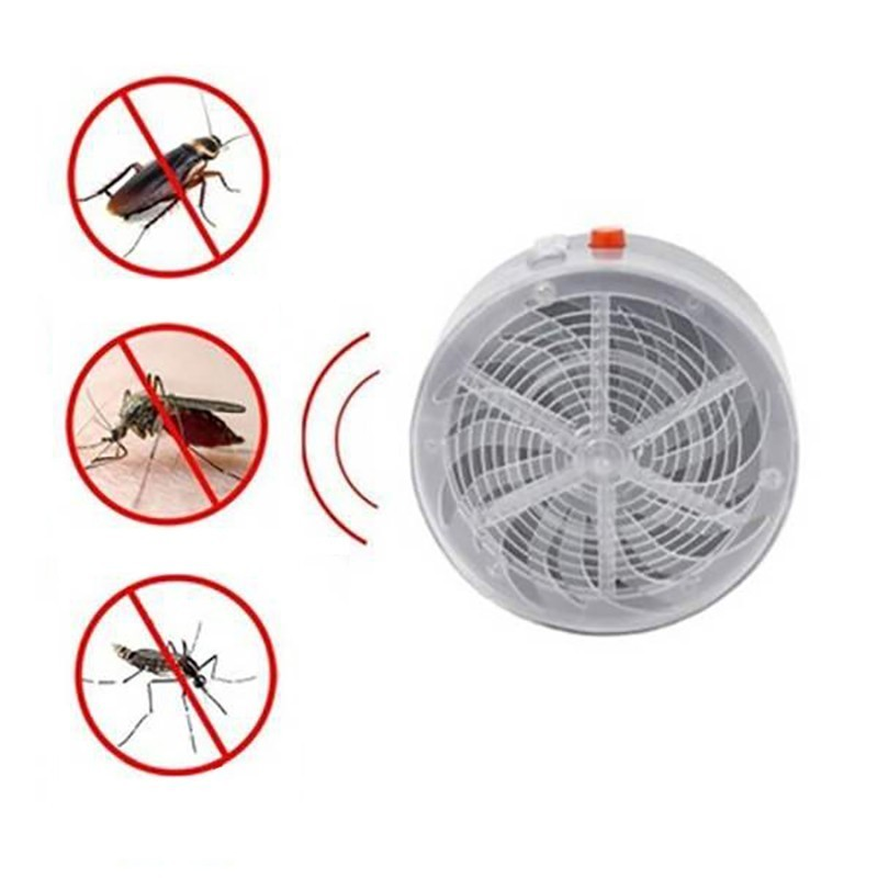 5PCS Solar Powered Mosquito Killer Click-type Insect killer Home Kitchen Pest Killer UV Light Lamp Mosquito Bug Zapper Repellent