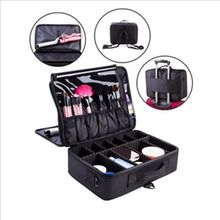 2017 New High Quality Professional Empty Makeup Organizer Bolso Mujer Cosmetic Case Travel Large Capacity Storage Bag Suitcases