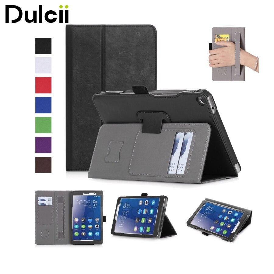 Dulcii for Huawei MediaPad T 3 Case fundas 8.0 Stand Leather Cover Case Card Slots for Huawei MediaPad T3 Cover Bag 8.0-inch