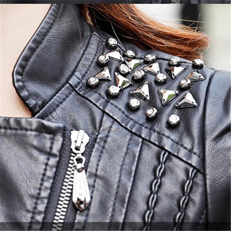 Moto Qualité Nouvelle Printemps Noir Veste Rivet De Dames Mode Pu 3xl Arrivée 2018 Bomber Haute Femmes Vêtements Streetwear 4qwdx47vA