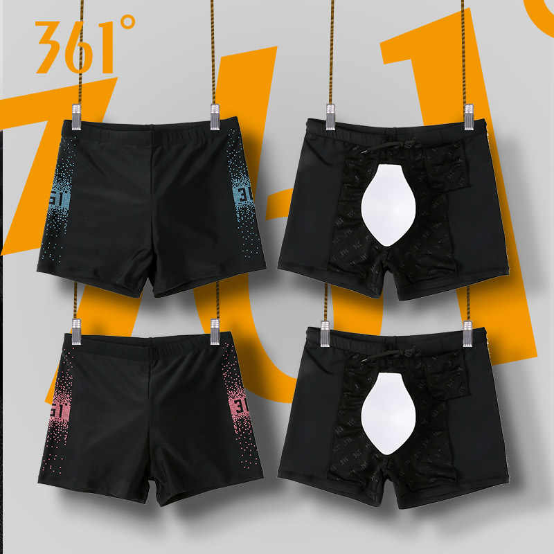 343970d467 ... 361 Men Swimwear Padded M-3XL Plus Size Men Swimming Trunks 2018 Blue Black  Swim ...